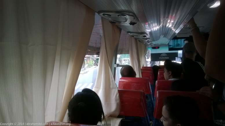 In-transit in the bus, view from my seat