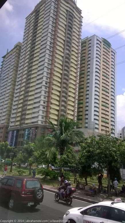 Cityland Condominium buildings at the corner of Dela Rosa St., and South Superhighway beside PNR Makati Buendia Railway Station