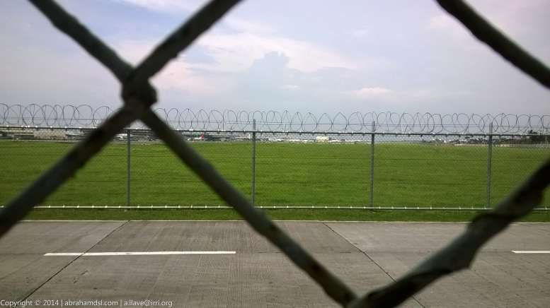 View of NAIA Compound behind outer fencing