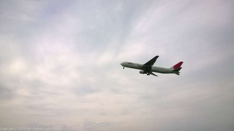 Japan Airlines plane finally took off.