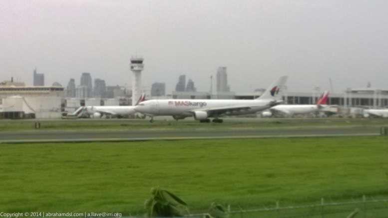 A MASkargo aircraft arriving.