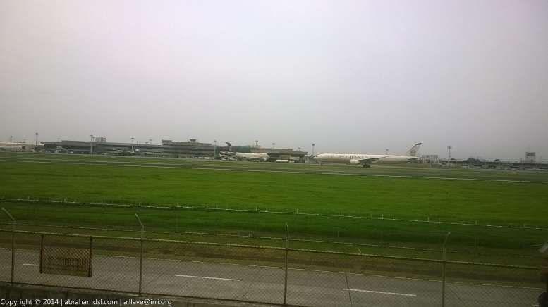 Etihad Airways aircraft arriving.