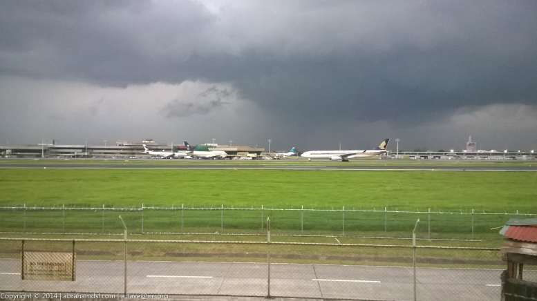 Another Singapore Airlines flight arrival and the weather turned to be akin to that of a doomsday.
